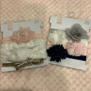BRAND NEW BABY GIRL HEADBANDS BY CARTERS